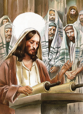 Gesù tiene l'omelia